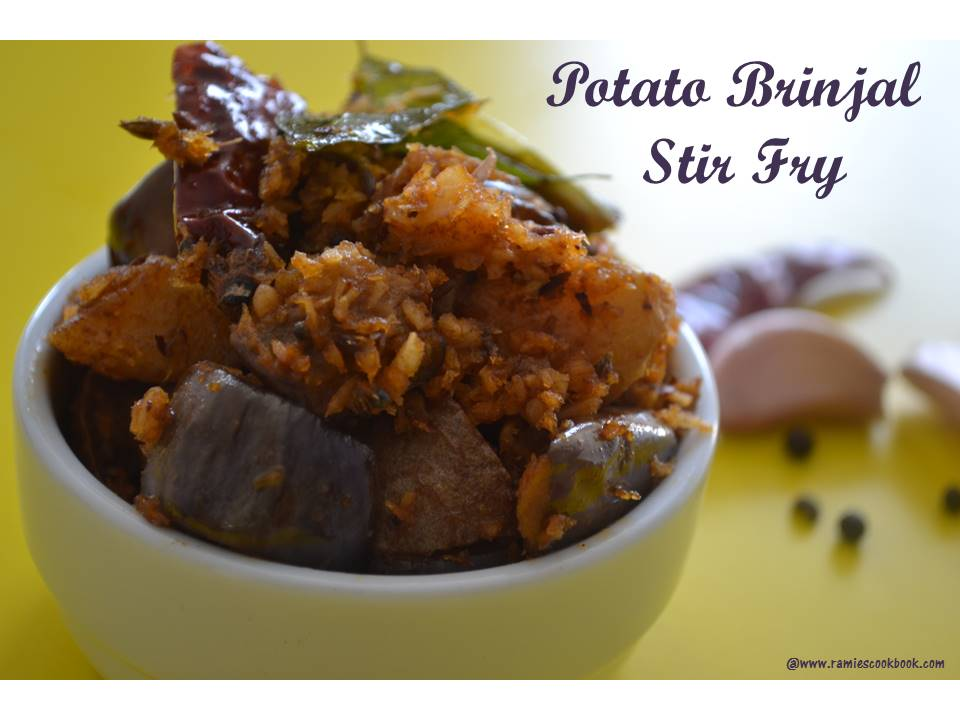 Potato Brinjal Stir fry