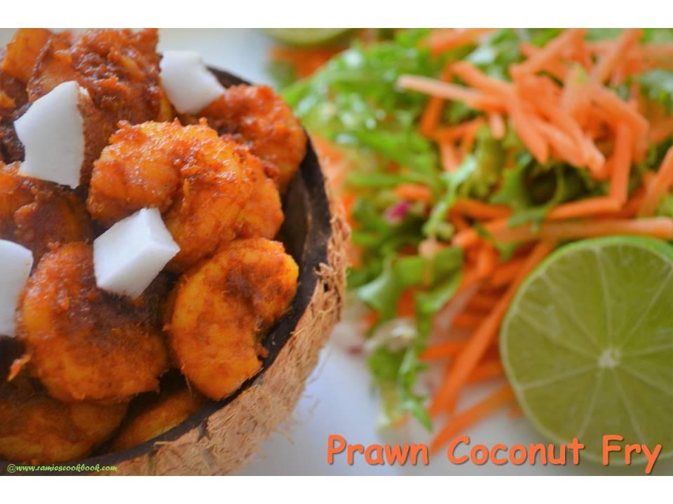 Prawn coconut fry 1