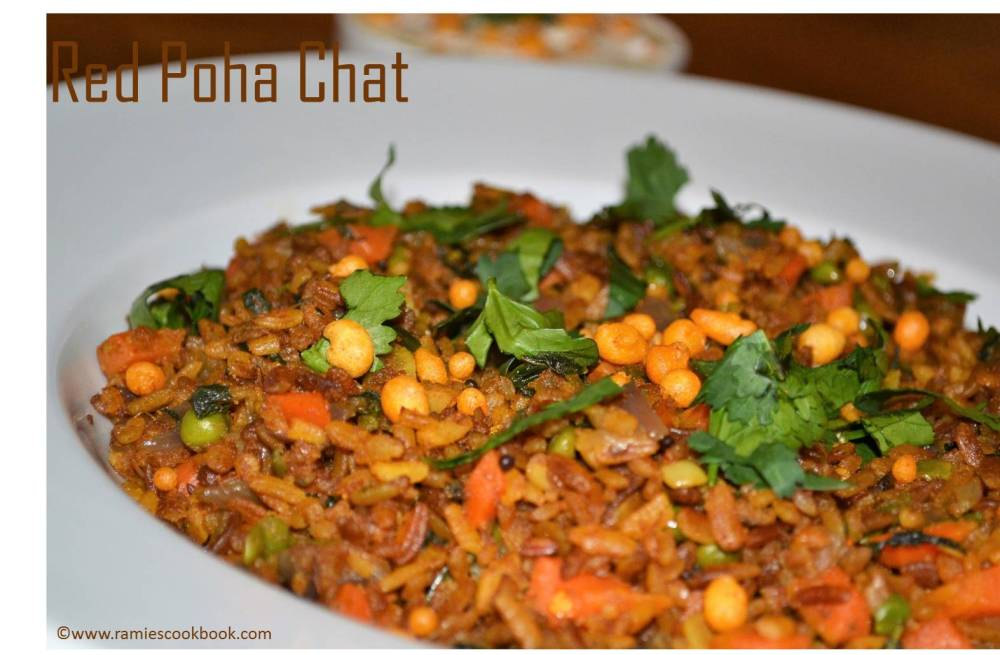 Red poha chat 2