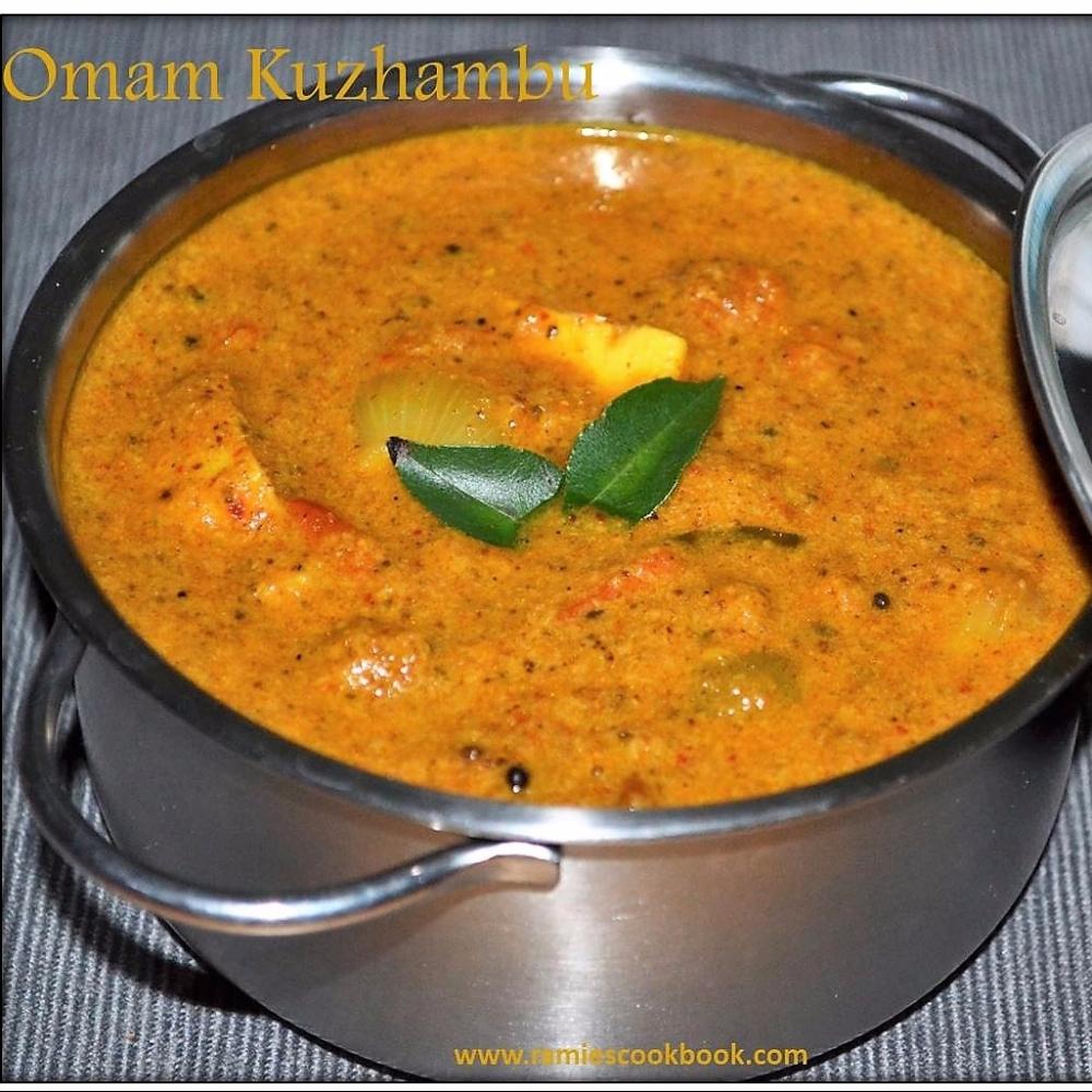 Omam Kulambu (Ajwain curry) 1