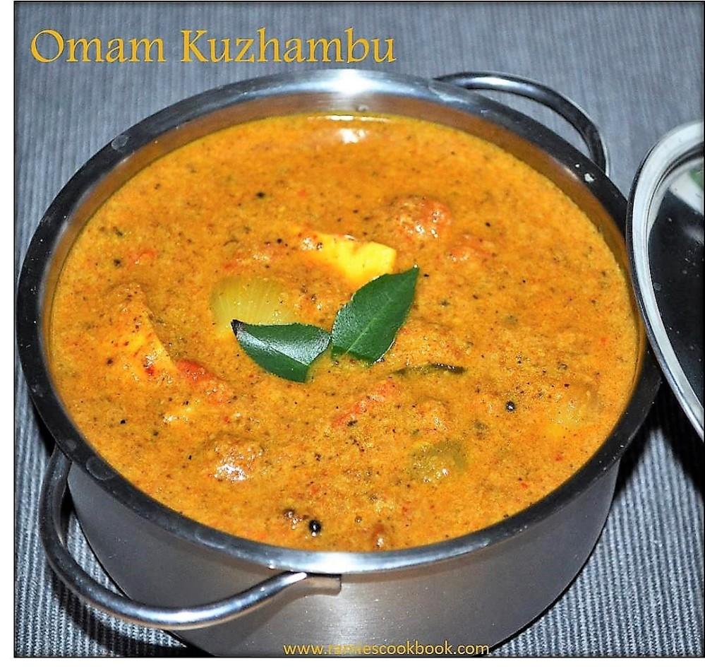 Omam Kulambu (Ajwain curry) 2