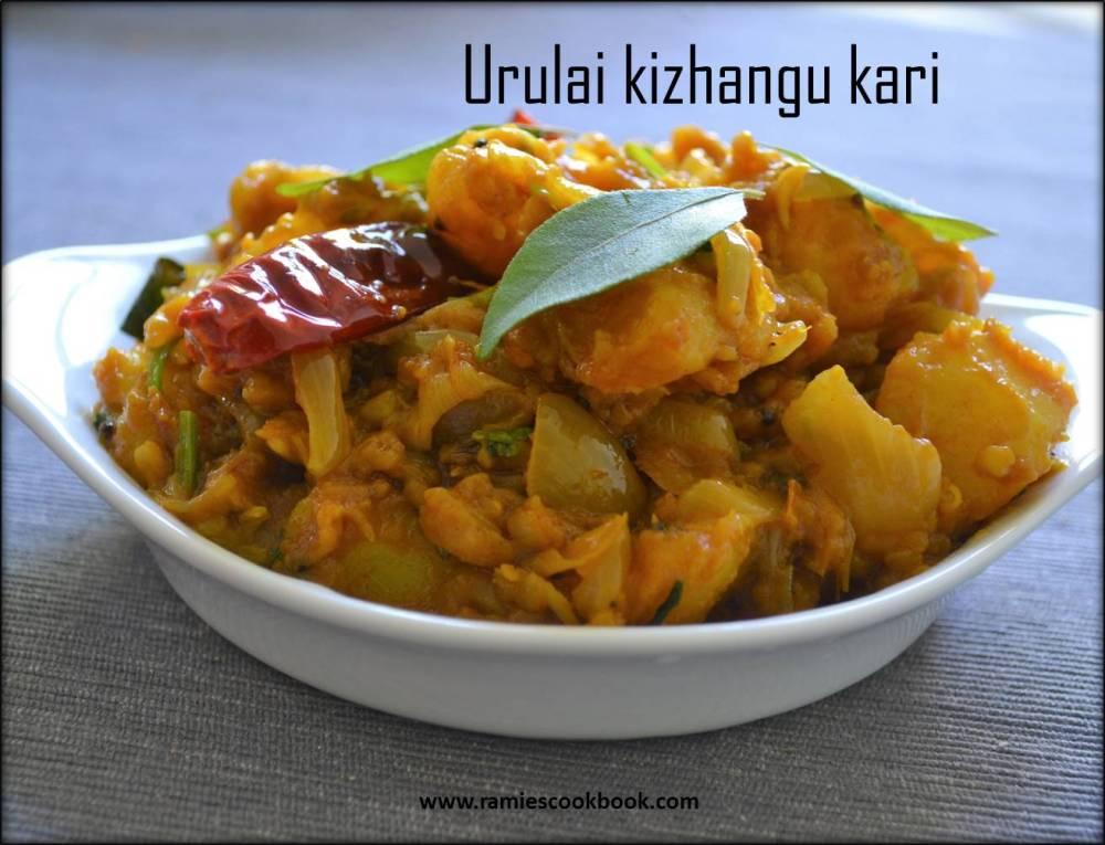 Potato dry curry 1a