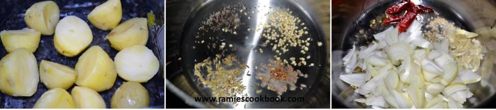 Potato dry curry a